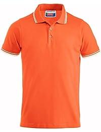 Lot de 2 pièces - Polo avec col et bas de manches surlignés - Orange, M