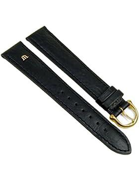 Maurice Lacroix Ersatzband Uhrenarmband Büffelkalb Leder Band schwarz XL 20898G, Stegbreite:19mm