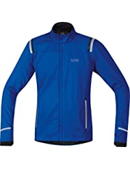 GORE RUNNING WEAR Herren Soft Shell Laufjacke, GORE WINDSTOPPER, MYTHOS 2.0 WS SO Jacket, Größe S, Schwarz, JWSMYM