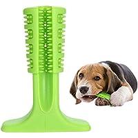 KYONNE Cepillo de Dientes Perro - Palo Juguete para Masticar - Limpiador Dientes Perros - para Perros pequeños - Regalo para el Amante de Las Mascotas (Verde)