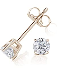 Vir Jewels 9ct Yellow Gold 0.33ct Diamond Earrings IGI Certified
