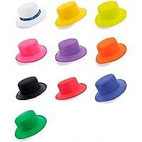 DISOK Lote de 20 Sombreros Colores Surtidos ala Ancha Panama - Sombrero  Blanco Cordobés f73bdd91da3