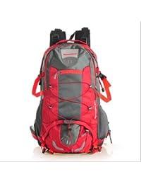 Mochila Outdoor Outdoor montañismo sacos de 60 l mochila de nylon impermeable al aire libre packs bolsas de hombro rojo