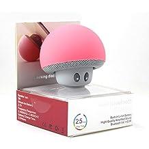 Mini Altavoz Bluetooth Seta Portatil con Ventosa para Altavoz Inalámbrico Estéreo Manos Libres Altavoz Bluetooth Portable Recargable compatible con iPod, Tablet, Smartphone iPhone, Samsung, Mp3, iPad (color rosa)
