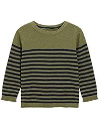 next Niños Infantes Jersey Pulóver Suéter De Algodón Cuello Redondo Diseño A Rayas (3 Meses-6 Años)