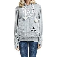 Otoño E Invierno Cargado Gato Y Perro Bolsa Mascota Camisa Multifuncional Suéter con Capucha De Manga Larga