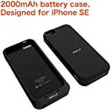 iWALK 2000mAh Battery Case for IPhone SE, Battery Case for IPhone 5S / 5, Charging case for iPhone SE, Charging case for iPhone 5S / 5, Rechargeable case for iPhone, Grey