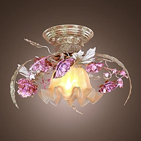 MLA Lampadario fantasia floreale al soffitto, con rose decorative ,