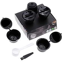 Lictin Version Mejorado Pack de 5 Cápsulas Filtros de café recargable reutilizable con Presión Aumendada para