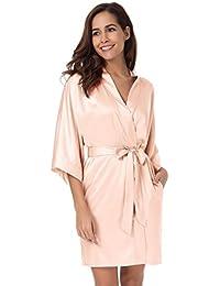 f1d34f7afa SIORO Raso Kimono Accappatoio Pigiama Pyjamas Donna Vestaglia da Notte  Kimono Sleepwear XS-XXL