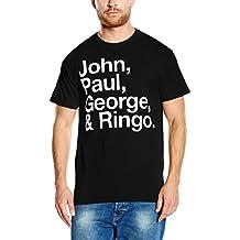 Desconocido John Paul George and Ringo, Camiseta Manga Corta para Hombre