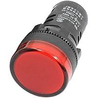 Lampara piloto de senal - SODIAL(R)AD16-22D/S 21mm Lampara piloto de senal de plastico LED roja de rosca AC220V 2Pzs