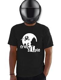 Planète motard - T shirt moto E.T free style - T shirt motard - T shirt homme