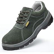 ZYFXZ Zapatos de Seguridad Zapatillas de Trabajo con Puntera de Acero para otoño e Invierno Masculinas