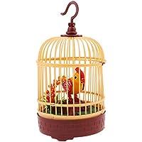Homyl Juguetes de Sonido Activado Pájaro en Jaula Decoración Coleccionable