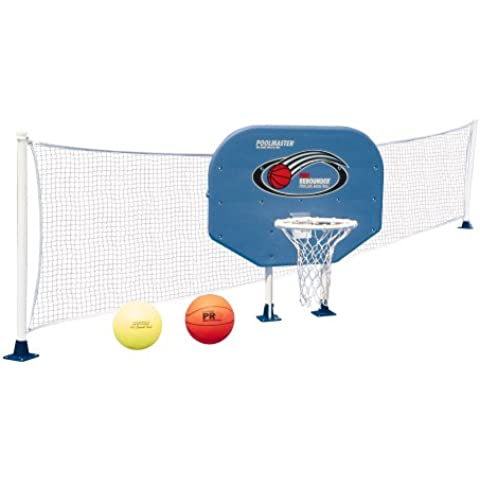 Poolmaster 72777 Above-Ground Poolside Basketball / Volleyball Game Combo by Poolmaster