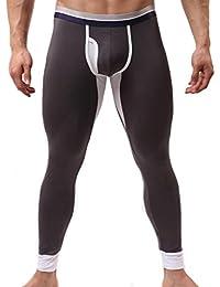 Ouneed® Homme Moal Thermique Legging Sous Vetement Tight Pant Underwear