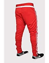 XXR Clima Mens Training Trousers Tracksuits Bottom Pants Joggers Exercise Running Fitness Sports Clothing Gym (Red)