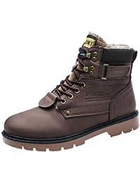 Zapatos de hombre JiaMeng Zapatos Botines Adventure Adulto Martin Boots Herramientas para Exteriores Antideslizantes Resistentes al Desgaste Zapatos