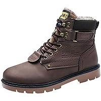 Zapatos de hombre JiaMeng Zapatos Botines Adventure Adulto Navidad Boots Herramientas para Exteriores Antideslizantes Resistentes al Desgaste Zapatos