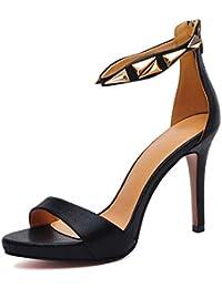 fd972ea493648 Scarpe donna HWF Sandali Donna Stiletto Tacchi Estate Sexy semplici (Colore    Nero