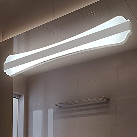 LYNDM 0.4-1.2m Lámpara luces de pared moderno salón dormitorio baño vestidor maquillaje de pared de aluminio espejo luces led fixtures,16W L800mm,blanco cálido.(#JD-0717)