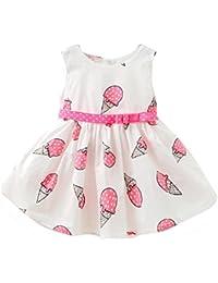 lanspo Chica Ropa Vestido De Princesa Vestido de verano para niña Niedlich Niño Bebé Niña Festival Ropa helado Impreso vestido Niño vestido tul Ropa Vestido 0–24Meses