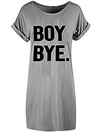 T-Shirt Mujer Casual Verano 2018, Sonnena Patrón de Boy Bye impresión Mujer Blusa