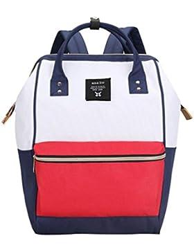 CHENGYANG Mädchen Jungen Schultasche Canvas Rucksack Handtasche Wanderrucksack Reisetasche 12 Zoll Laptoprucksack