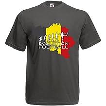 lepni.me Maglietta da uomo Evoluzione football - Belgio, La bandiera belga