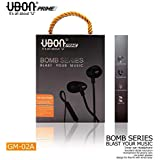 UBON Prime GM-02A Bomb Series Noise Isolating In-Ear Earphone with Mic(Black)