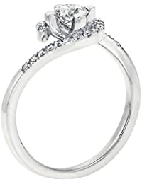 Diamond Engagement Ring in 14K Gold / White - GIA Certified, Round, 0.53 Carat, K Color, VVS2 Clarity