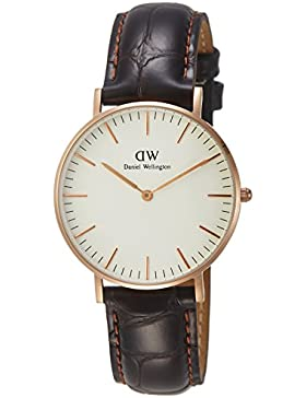 Daniel Wellington Classic Damen-Armbanduhr Analog Quarz Leder - DW00100038