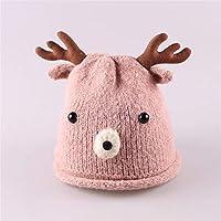 ETMAAA Wollmütze der Kinder Winter-Jungen-Mode-Warmer Hut-Kleine Geweih-Mädchen-Knit-Hut