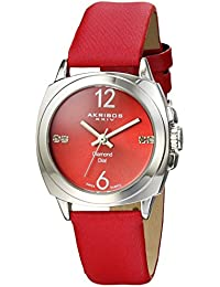 Akribos XXIV AK742RD - Reloj de cuarzo para mujeres, color rojo