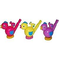 Fiesta del Palacio–Decoración Fiesta Piñata inflar Juegos obsequios 3piezas Pipas de pájaro de 8cm, multicolor