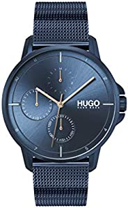 Hugo Boss Men'S Blue Dial Ionic Plated Dark Blue Steel Watch - 153