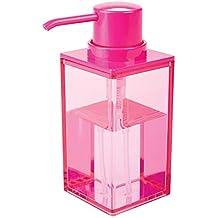 mDesign Dosificador de jabón recargable con aprox. 300 ml de capacidad – Práctico dispensador de
