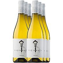 PRADOREY El Cuentista - Vino bianco - Vino spagnolo - 100% Tempranillo - Ribera del Duero - Un blanc de noirs con 9 mesi in barrique - 6 bottiglie - 0,75 l