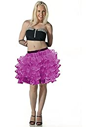 Crazy Chick 5 Layers Women Purple Tutu Skirt With Ribbon Fancy Dress Accessory 18 Inch