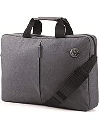"""HP Essential Top Load - Funda Bandolera para portátil de hasta 15.6"""", Color Gris"""