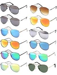 0752a5591ed8b Balinco Lunettes de soleil aviateur lunettes de soleil Années  70 Ans Homme    Femmes lunettes