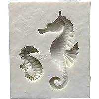 joyliveCY Caballitos de Mar Sugarcraft Caucho de silicona moldes