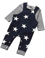 Generic Baby Hosen-Sets Streifen Tops Bib Pants Insgesamt Outfits