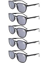 Eyekepper 5-Pack Spring Scharniere Lesebrillen Sun Readers Grey Lens +4.0