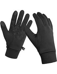 KELOYI Handschuhe Herren Damen Winter Laufen Touchscreen Leicht Elastisch Sport Gloves Motorrad Fahrrad Winddicht rutschfest Camping Wandern Outdoor Warm Schwarz Vorwinter Frühling Herbst