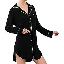 Rcool Camisones Batas y Kimonos Camisones Mujer Camisones Verano Camisones Tallas Grandes Mujer,Botón Suelto