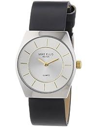 Mike Ellis New York L1126ASU/1 - Reloj analógico de cuarzo para mujer, correa de plástico color negro