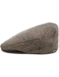 Brixton Hooligan - Boina marrón brown khaki herringbone Talla medium 269f749e2c0