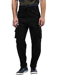 Hypernation Black Color Cargo Pant